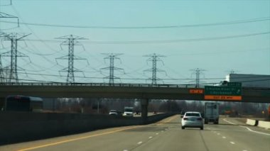 Jízdy na dálnici — Stock video