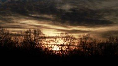 Orange Pink Sunset Time Lapse — Stock Video