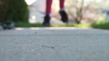 Child Playing Hopscotch — Stock Video