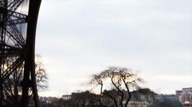 People Walking by Eiffel Tower — Stock Video