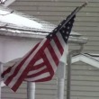 American Flag during Snow Storm — Vidéo #54350465
