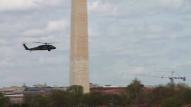 Helicopter Flying above Washington — Stock Video