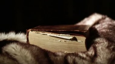 Ancient Giant Book — Stock Video
