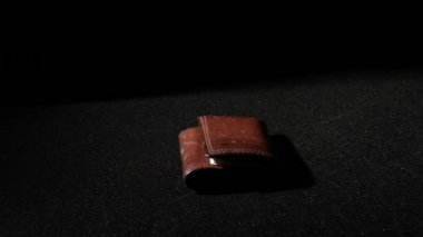 Leather Wallet with No Money — Stock Video