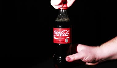 Coca Cola  Bottle  in the hand — Stock Video