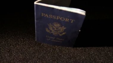 Passport of United States of America — Stock Video