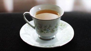 Tea in Tea Cup — Stock Video