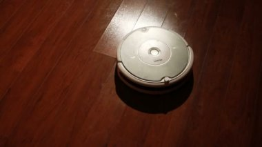 Robot Vacuum cleaner — Stock Video