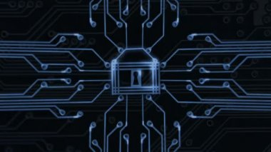 Cyber Security animation — Stock Video