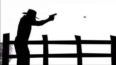 Man Firing Gun — Stock Video