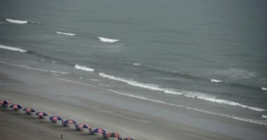 Raining at the Beach — Stock Video