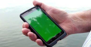 Man Holding Smart Phone — Stock Video