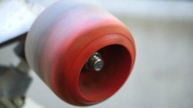 VIntage Skateboard Wheel — Stock Video