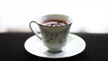 Drops in Tea Cup — Stock Video