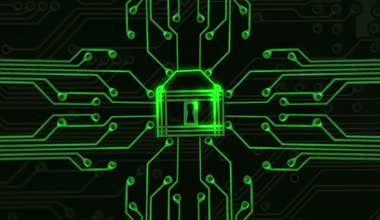 Cyber Security green — Stock Video