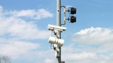 Speed and Surveillance Cameras — Stock Video