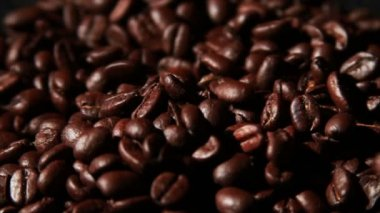 Coffee Beans close up — Stock Video