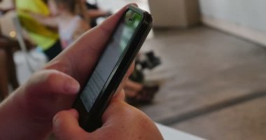 Woman using smartphone — Stock Video