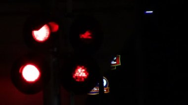 Flashing Stop Lights — Stock Video