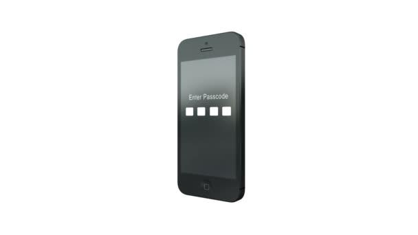 Teléfono inteligente hackeado — Vídeo de stock