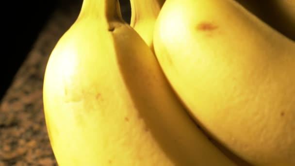 Yellow bunch of bananas — Vidéo