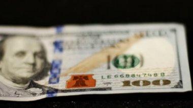 Yüz dolar bill — Stok video