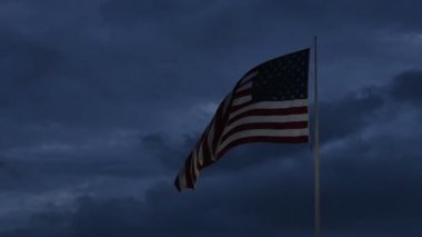 American Flag waving — Stock Video