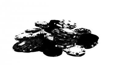 Poker Chips Falling — Stock Video