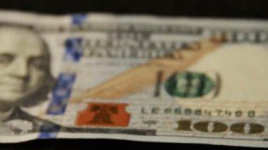 One hundred dollars bill — Stock Video