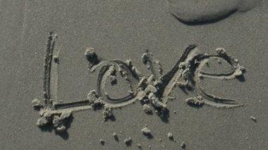 Love Written on the Sand — Stock Video