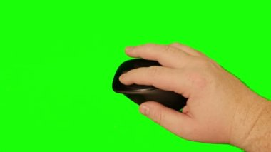 Hand on Computer Mouse — Stock Video