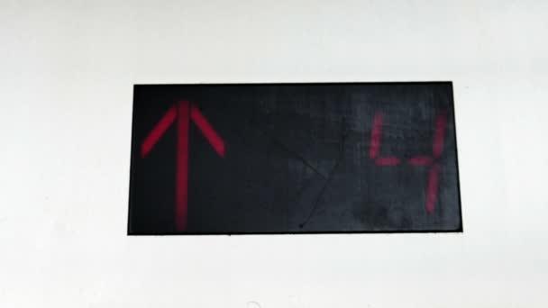 Elevador a piso 14 — Vídeo de stock