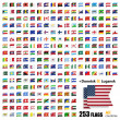 Flags of all sovereign states in vector — Stockvektor  #54006235