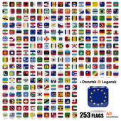 Flags of all sovereign states in vector — Stock Vector