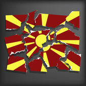 Flag of Macedonia — Stock vektor