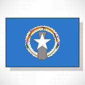 北マリアナ諸島の旗 — ストックベクタ
