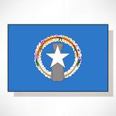 Flag of Northern Mariana Islands — Stock Vector
