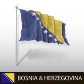 Bosnia & Herzegovina Flag — Stock Vector