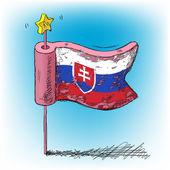 Vlag van Slowakije — Stockvector