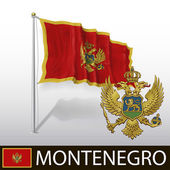 Flag of Montenegro — Stock Vector