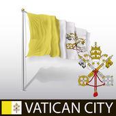 Vatican Flag — Stock Vector