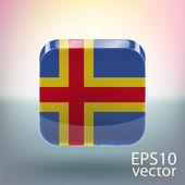 Flag of Aland — Stock Vector