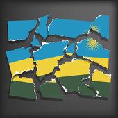 Flag of Rwanda — Stock Vector