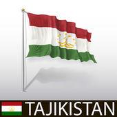 Flag of Tajikistan — Stock Vector
