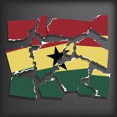 Flag of Ghana — Stock Vector