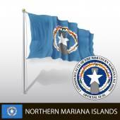 Vlag van Noordelijke Marianeneilanden — Stockvector