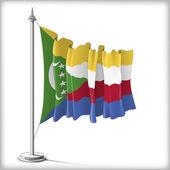 Flag of Comorian Island — Stock Vector