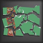 Flag of Turkmenistan — Stock Vector