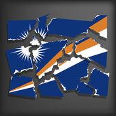 Flag of Marshall Islands — Stock Vector