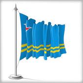 Flag of Aruba — Stock Vector